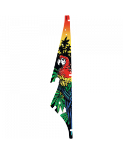 Black Rose Parrot Plastic