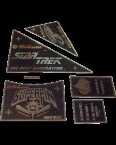 Star Trek TNG Apron Decal Set Gold/Silver