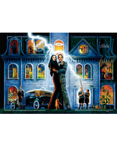 The Addams Family Acrylic Backglass