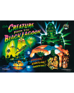 Creature from the Black Lagoon Acrylic Backglass