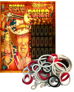 Pistol Poker Rubberset