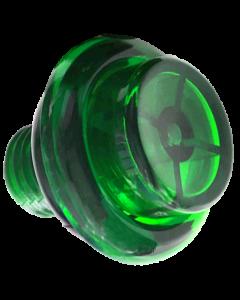 Flipper Button Transparent Green
