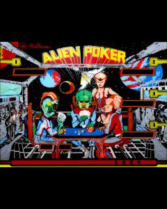 Alien Poker Backglass