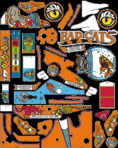 Bad Cats Plastic Set