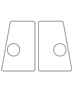 Flipper Button Cabinet Protectors Clear