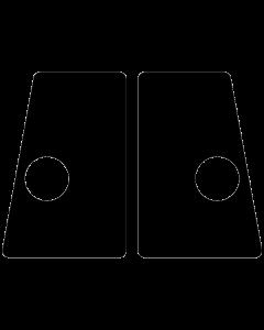 Flipper Button Cabinet Protectors Black