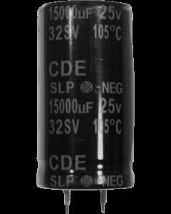Capacitor 15000 uF 25v radial snap