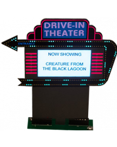 Creature from the Black Lagoon drive-in movie sign