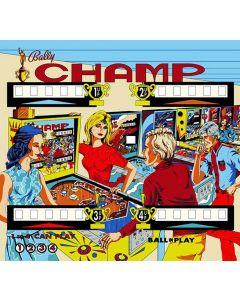 Champ Backglass