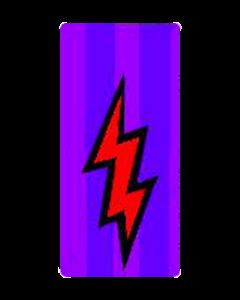 Cirqus Voltaire Purple Bolt Ramp Decal