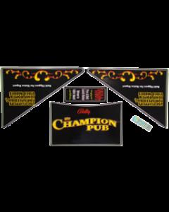 Champion Pub Apron Decal Set