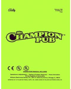 Champion Pub Manual