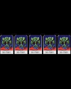 Alien Poker Target Decals Laminated