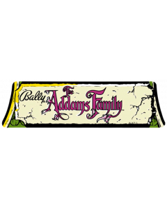 Addams Family Cloud Logo Topper Decal