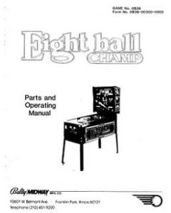 Eight Ball Champ Manual