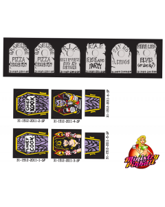 Elvira and the Party Animals Playfield Decal Set