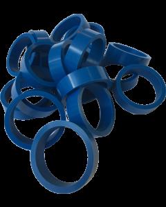 """Silicone Flipper Rubber 1 1/2"""" x 1/2"""" Blue"""