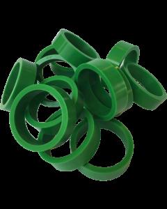 """Silicone Flipper Rubber 1 1/2"""" x 1/2"""" Green"""