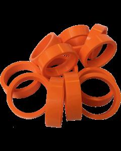 """Silicone Flipper Rubber 1 1/2"""" x 1/2"""" Orange"""