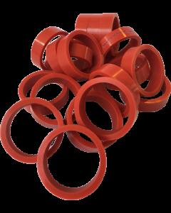 "Silicone Flipper Rubber 1 1/2"" x 1/2"" Red"