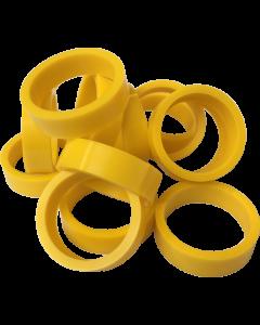 "Silicone Flipper Rubber 1 1/2"" x 1/2"" Yellow"