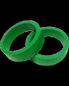 """Flipper Rubber 1 1/2"""" x 1/2"""" Green"""
