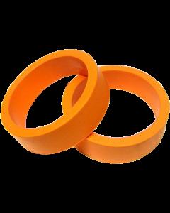 "Flipper Rubber 1 1/2"" x 1/2"" Orange"