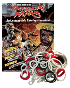 Attack from Mars rubberset