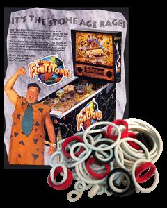The Flintstones rubberset