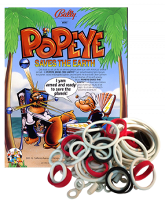 Popeye saves the Earth rubberset
