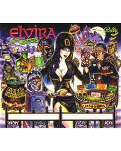 Elvira and the Party Monsters Backglass