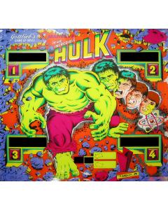 Hulk Backglass