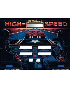 High Speed Backglass