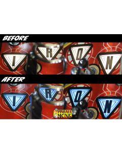 Avengers I-R-O-N and ARC Reactor Color Bracket Set