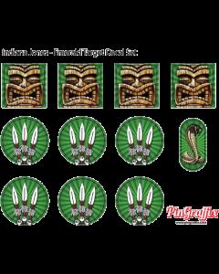 Indiana Jones Target Decal Set Emerald