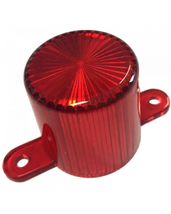Dome Flash Lamp Screw Red