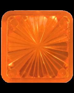 """Square 1"""" Starburst Insert Orange"""