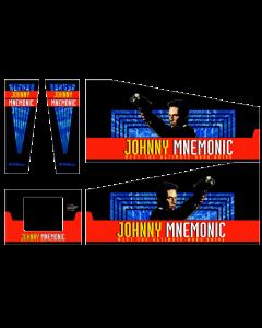 Johnny Mnemonic Cabinet Decals