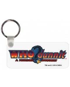 Who Dunnit Logo Key Chain