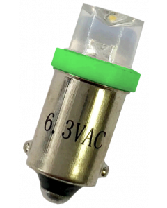 #44 Clear Concave Top LED Green