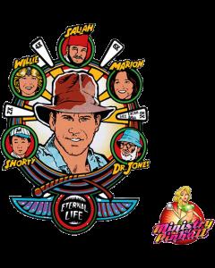 Indiana Jones Playfield Overlay
