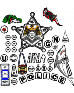 Police Force Insert Decals