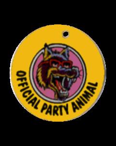 Party Zone Key Fob Plastic 3