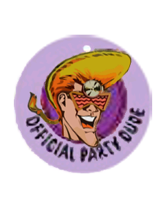 Party Zone Key Fob Plastic 2