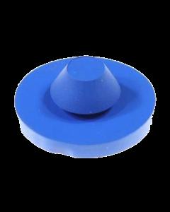 "Rubber Grommet Bumper Round 1"" Blue"
