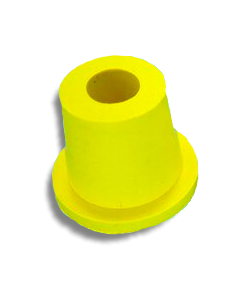 Rubber Sleeve Tapered Yellow