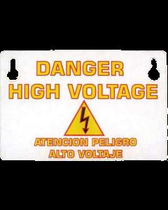 "Stern Plastic Guard ""Danger High Voltage"""