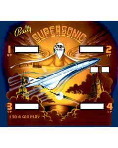 Supersonic Backglass
