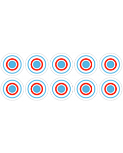 Surf Champ Target Decals laminated