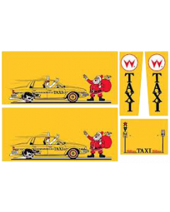Taxi Cabinet Decals